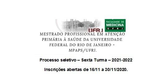 Mestrado Profissional APS 2021