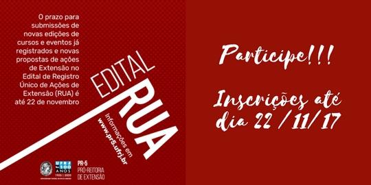 Edital RUA 2018