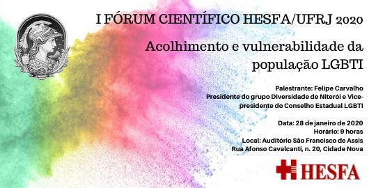 I Fórum Científico HESFA/UFRJ Janeiro 2020