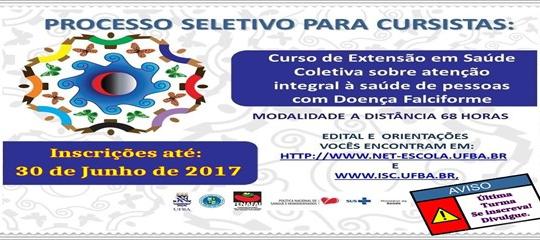 Curso de Extensão em Saúde Coletiva sobre Atenção Integral à Saúde de Pessoas com Doença Falciforme
