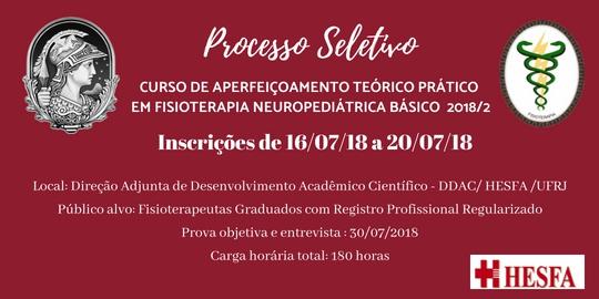 Curso de Aperfeiçoamento Teórico-Prático em Fisioterapia Neuropediátrica Básica 2018/2