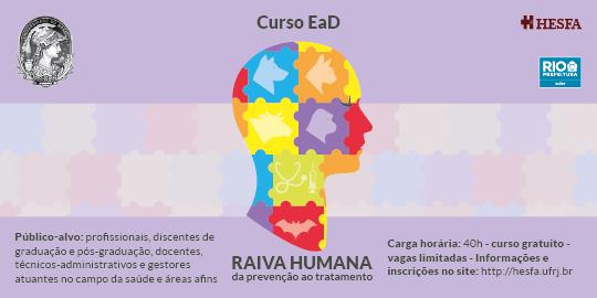 Curso de Extensão/Atualização - Raiva humana: da prevenção ao tratamento Turma 2019-1