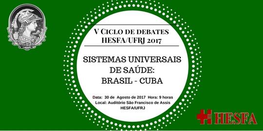 V Ciclo de Debates HESFA/UFRJ Agosto 2017