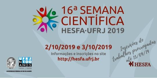 16° Semana Científica HESFA/UFRJ 2019